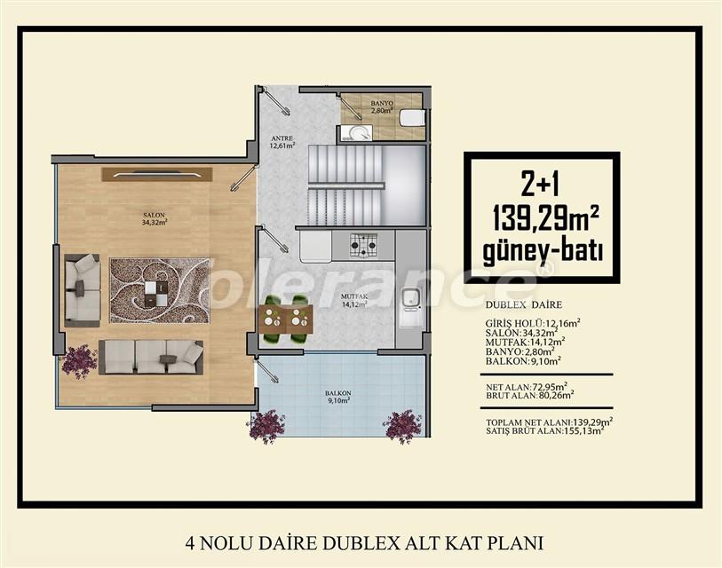 Недорогие квартиры в Махмутлар, Алания  всего в 450 метрах от пляжа - 14922 | Tolerance Homes