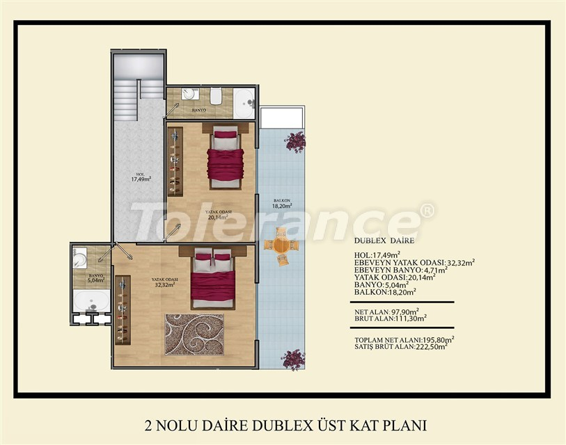 Недорогие квартиры в Махмутлар, Алания  всего в 450 метрах от пляжа - 14919   Tolerance Homes