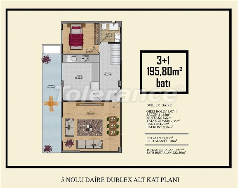 Недорогие квартиры в Махмутлар, Алания  всего в 450 метрах от пляжа - 14924   Tolerance Homes