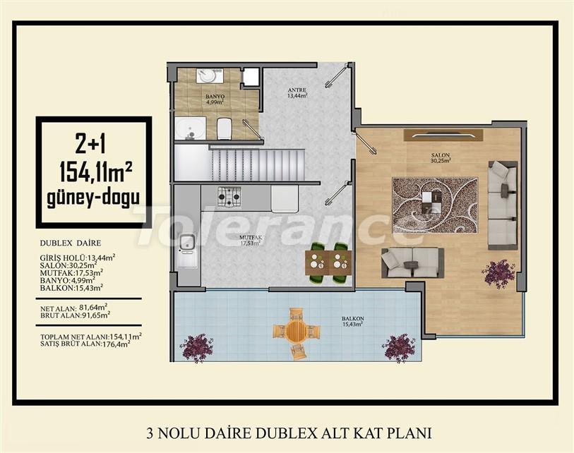 Недорогие квартиры в Махмутлар, Алания  всего в 450 метрах от пляжа - 14920 | Tolerance Homes