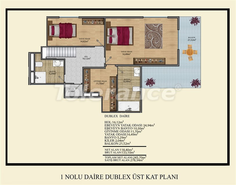 Недорогие квартиры в Махмутлар, Алания  всего в 450 метрах от пляжа - 14917 | Tolerance Homes