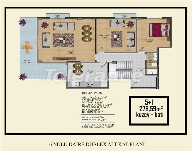 Недорогие квартиры в Махмутлар, Алания  всего в 450 метрах от пляжа - 14926 | Tolerance Homes
