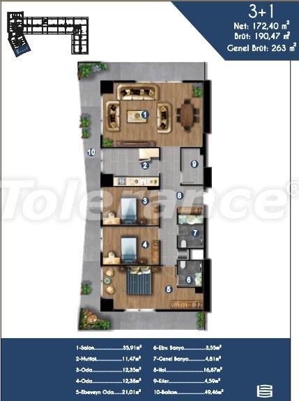 Современные квартиры в Измире, выгодные для инвестиций, в комплексе с отельной инфраструктурой - 15151 | Tolerance Homes