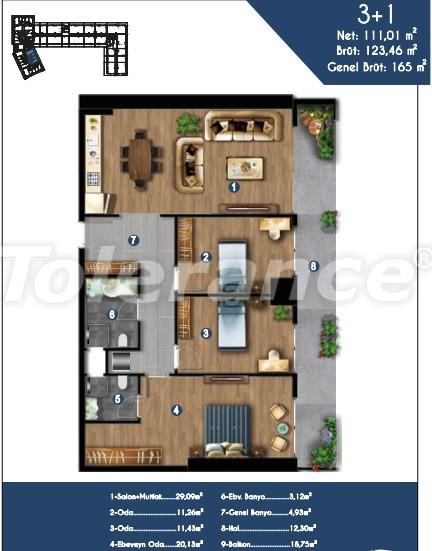 Современные квартиры в Измире, выгодные для инвестиций, в комплексе с отельной инфраструктурой - 15152 | Tolerance Homes