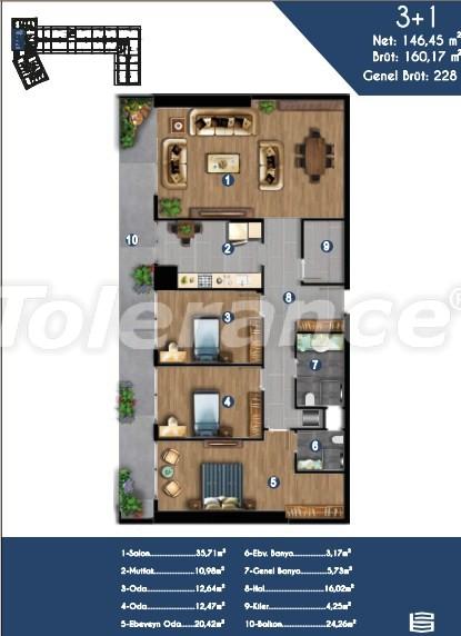 Современные квартиры в Измире, выгодные для инвестиций, в комплексе с отельной инфраструктурой - 15150 | Tolerance Homes