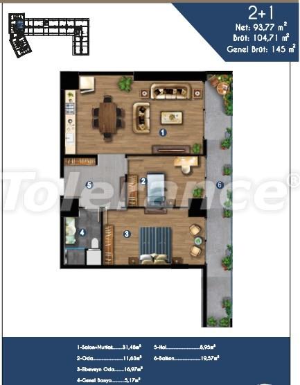 Современные квартиры в Измире, выгодные для инвестиций, в комплексе с отельной инфраструктурой - 15148 | Tolerance Homes