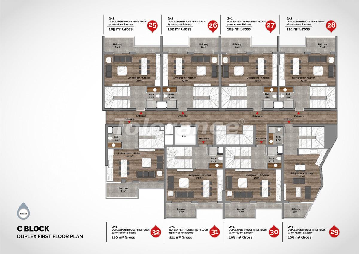 Апартаменты в центре Алании класса люкс - 15224 | Tolerance Homes