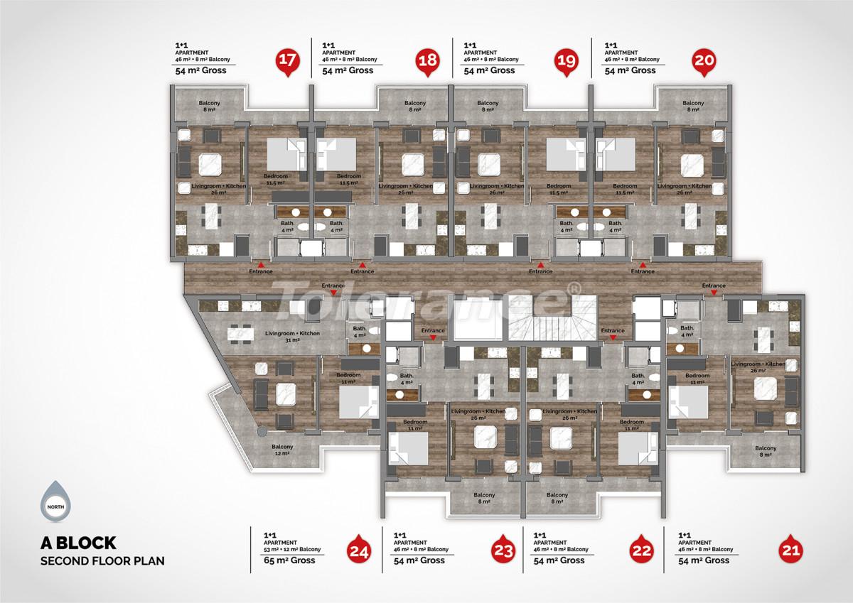 Апартаменты в центре Алании класса люкс - 15219 | Tolerance Homes