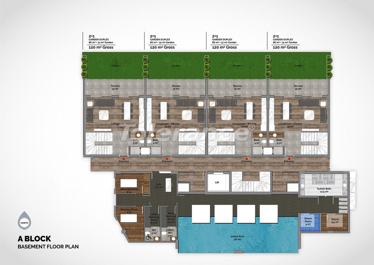 Апартаменты в центре Алании класса люкс - 15210 | Tolerance Homes