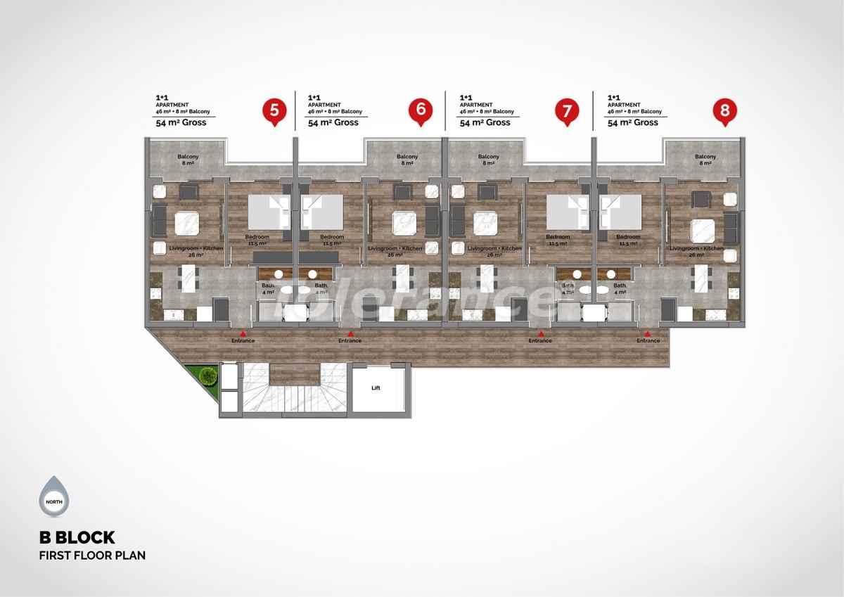 Апартаменты в центре Алании класса люкс - 15217 | Tolerance Homes