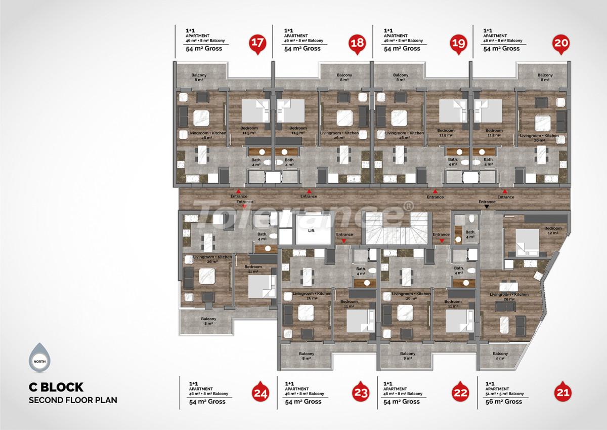 Апартаменты в центре Алании класса люкс - 15221 | Tolerance Homes