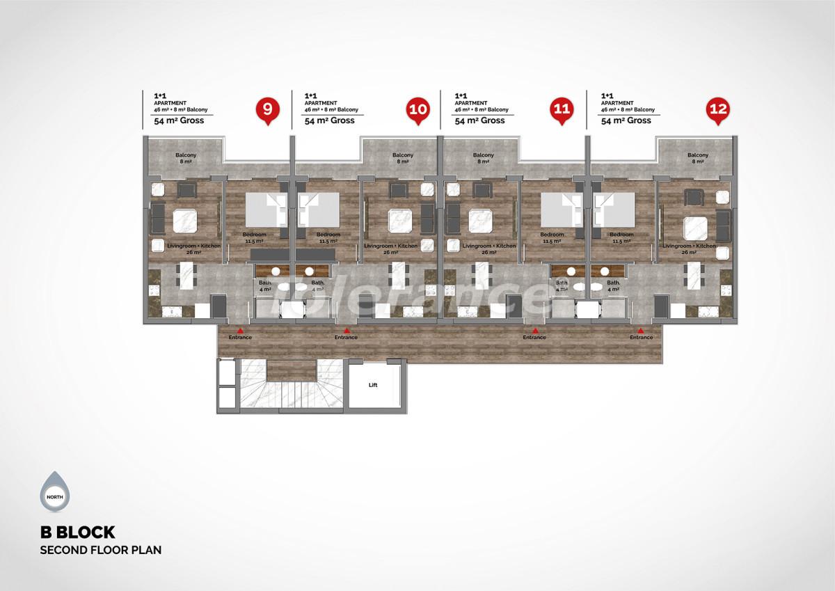 Апартаменты в центре Алании класса люкс - 15220 | Tolerance Homes
