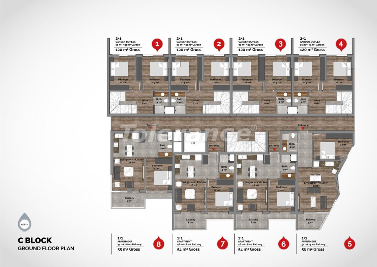 Апартаменты в центре Алании класса люкс - 15215 | Tolerance Homes