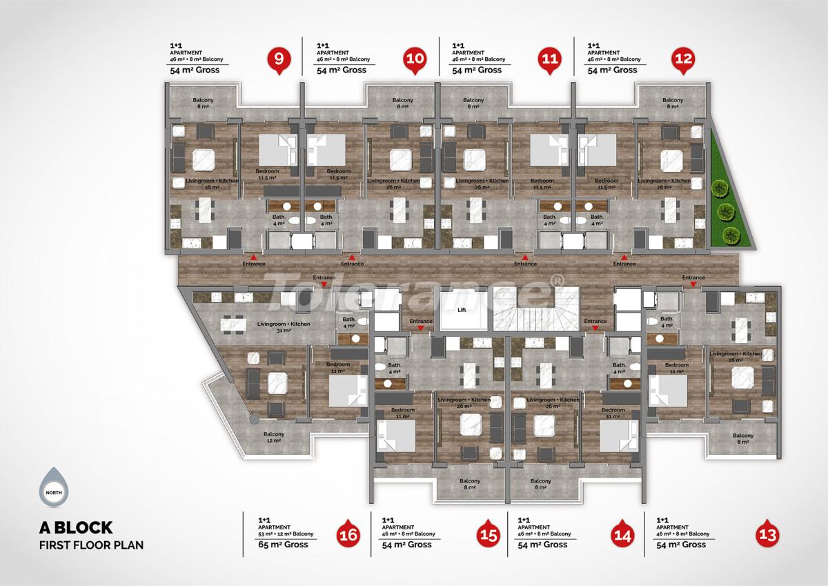 Апартаменты в центре Алании класса люкс - 15216 | Tolerance Homes