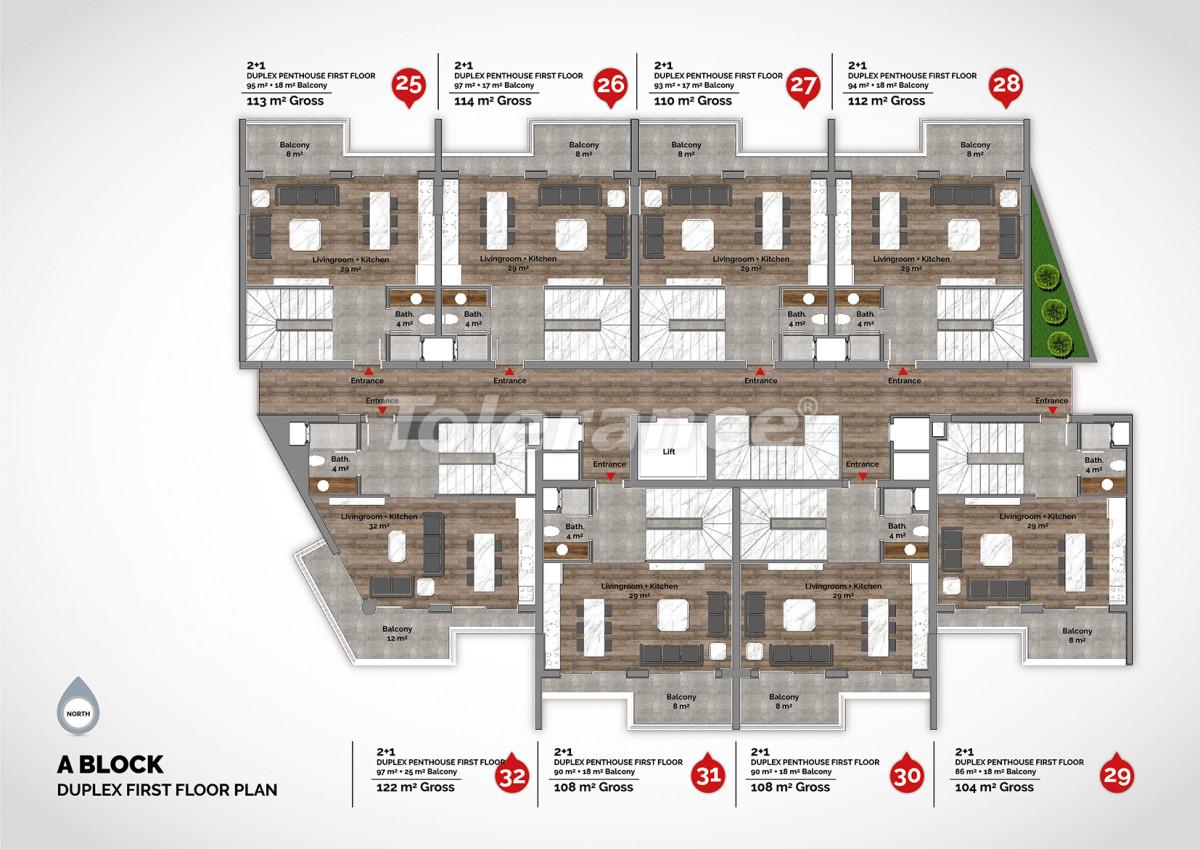 Апартаменты в центре Алании класса люкс - 15222 | Tolerance Homes