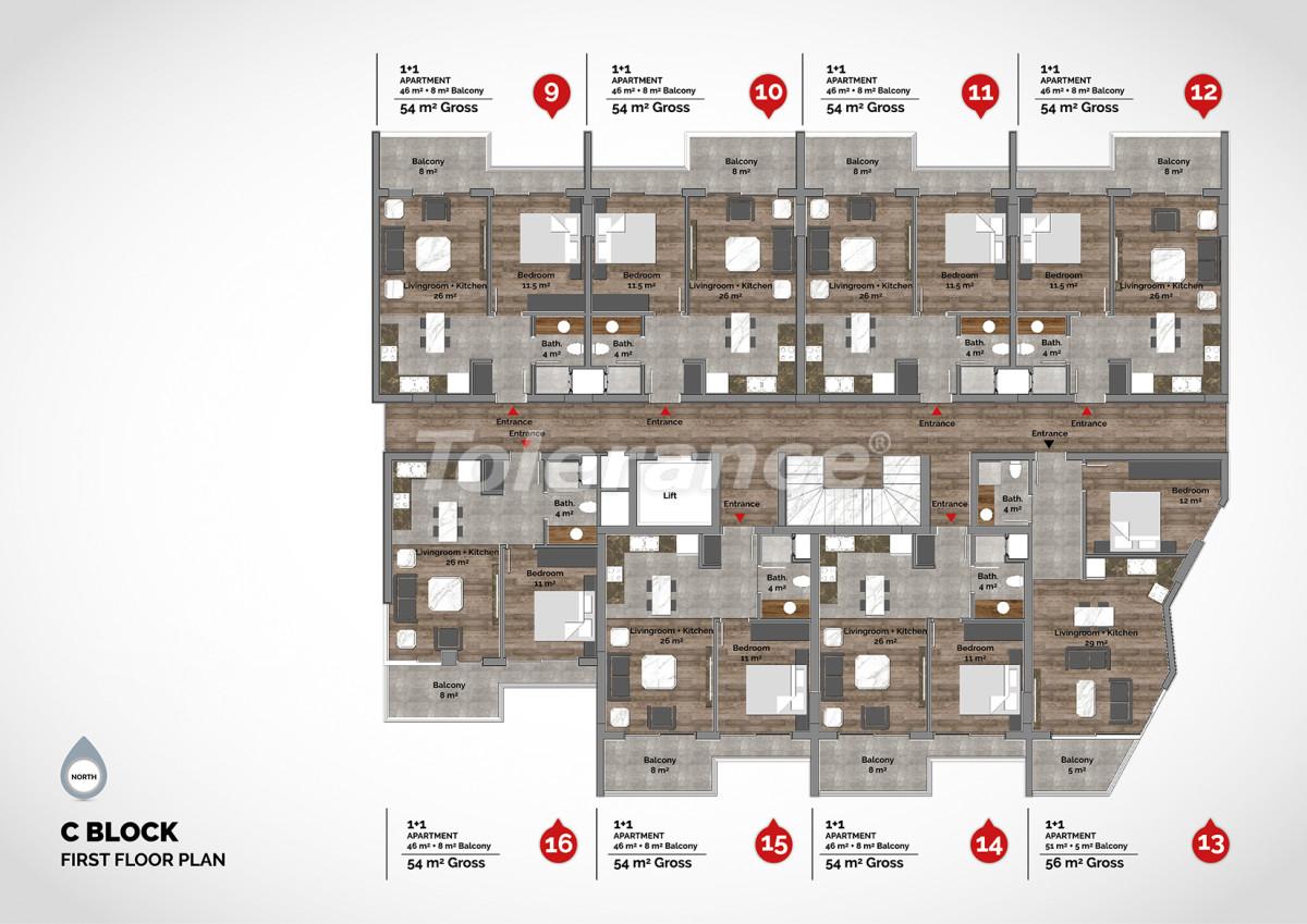 Апартаменты в центре Алании класса люкс - 15218 | Tolerance Homes