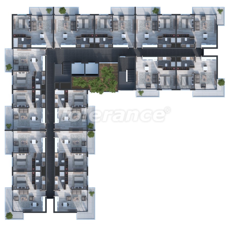 Двухкомнатные квартиры в Измире с большими террасами от одной из ведущих строительных компаний - 15246 | Tolerance Homes