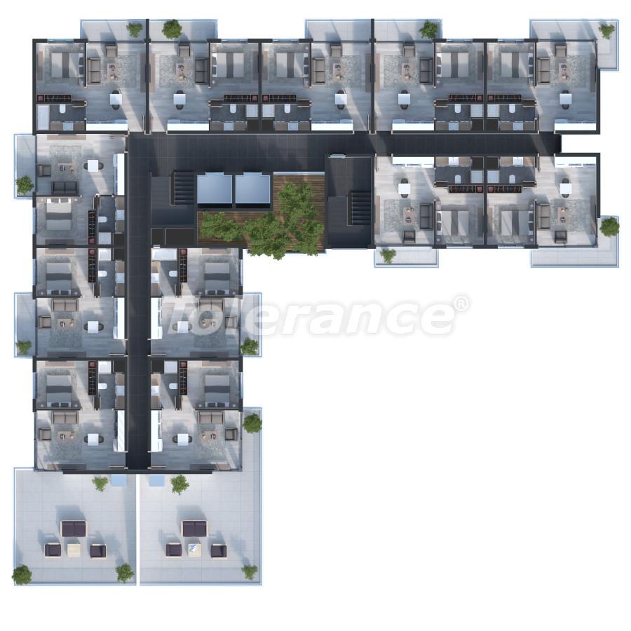 Двухкомнатные квартиры в Измире с большими террасами от одной из ведущих строительных компаний - 15245 | Tolerance Homes