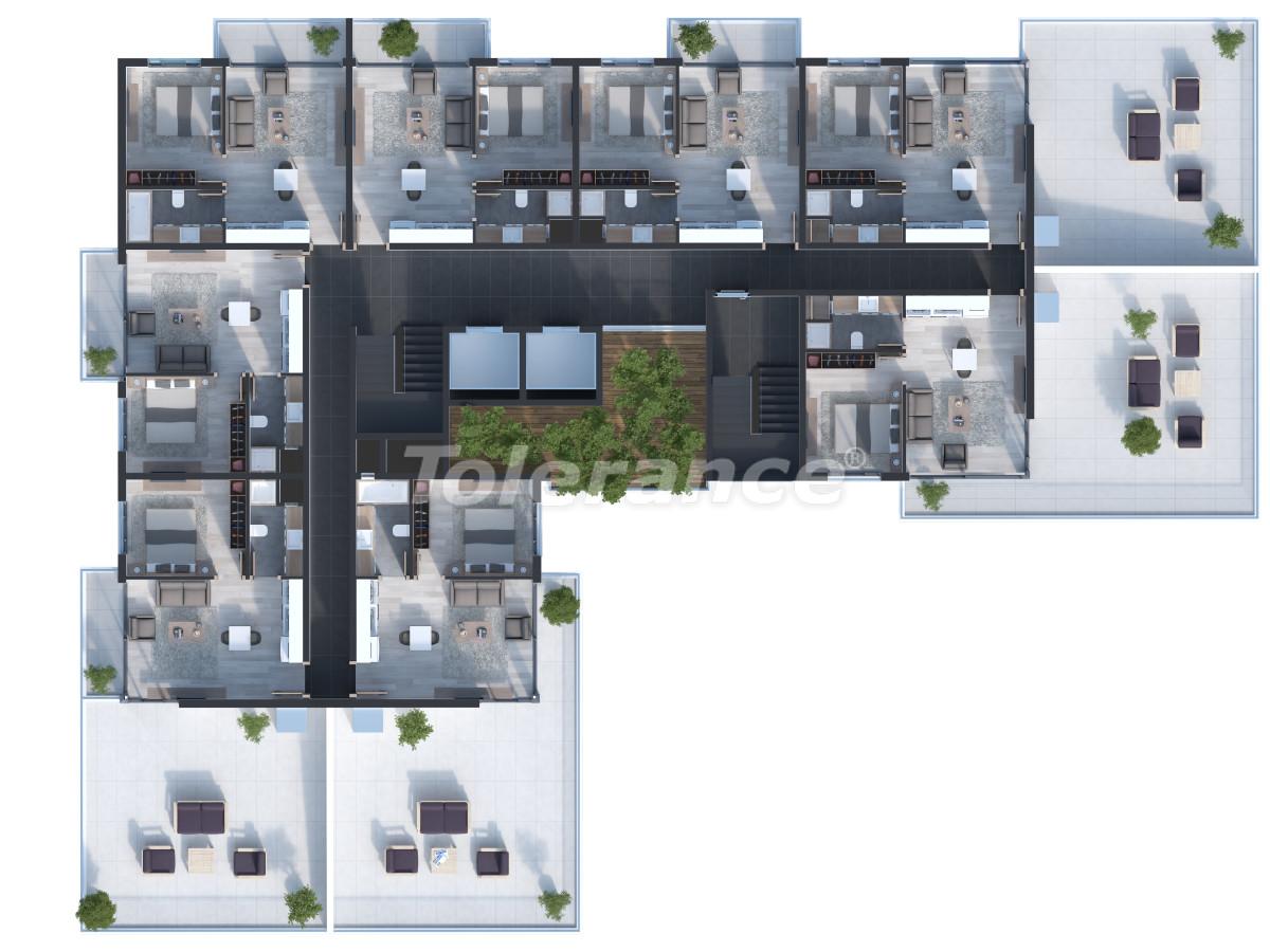 Двухкомнатные квартиры в Измире с большими террасами от одной из ведущих строительных компаний - 15247 | Tolerance Homes