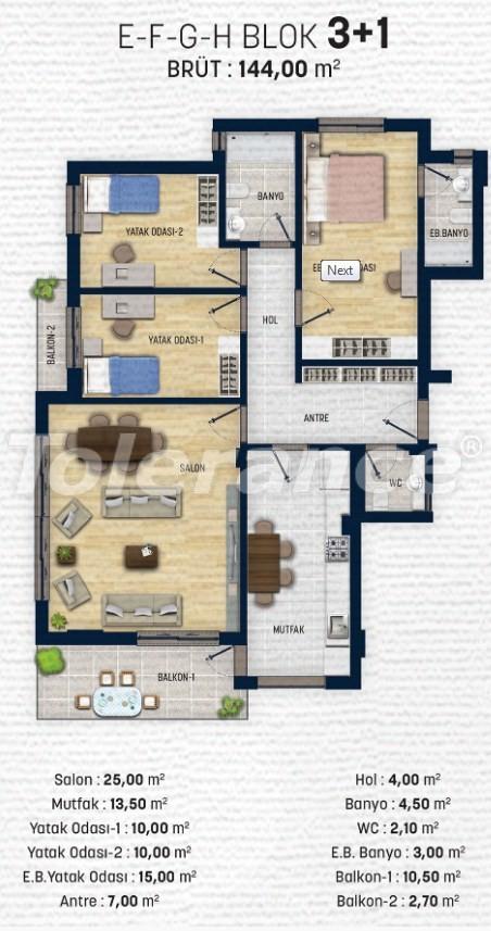Квартиры в Дошемеалты, Анталия  рядом с университетом - 15322 | Tolerance Homes