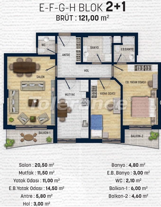 Квартиры в Дошемеалты, Анталия  рядом с университетом - 15319 | Tolerance Homes