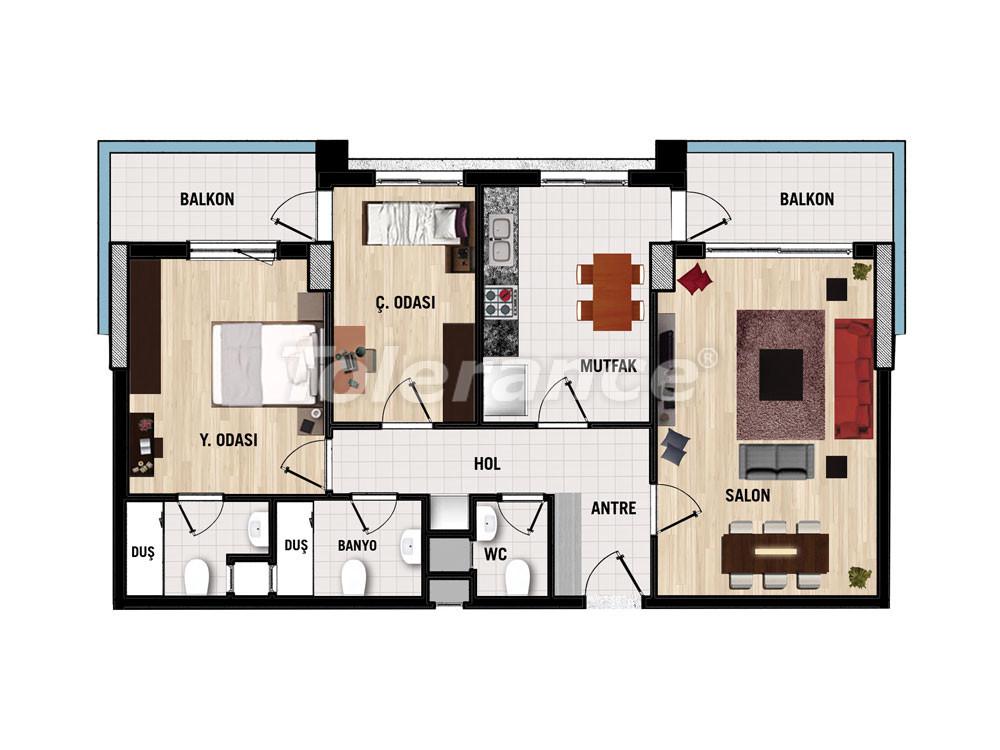 Апартаменты в   Дошемеалты, Анталия  для инвестиций  от застройщика - 15385 | Tolerance Homes