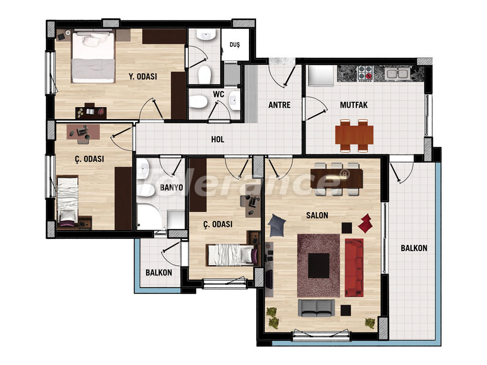 Апартаменты в   Дошемеалты, Анталия  для инвестиций  от застройщика - 15386 | Tolerance Homes