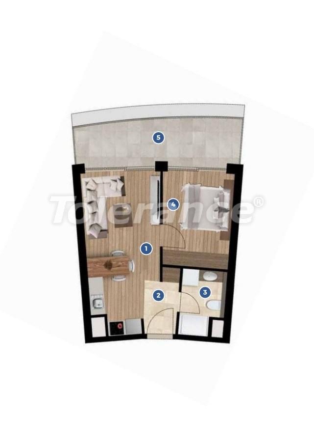 Элитные апартаменты в Измире в комплексе отельного типа с рассрочкой до 3-х лет - 19348 | Tolerance Homes