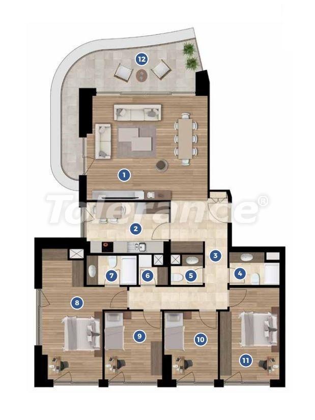 Элитные апартаменты в Измире в комплексе отельного типа с рассрочкой до 3-х лет - 19352 | Tolerance Homes
