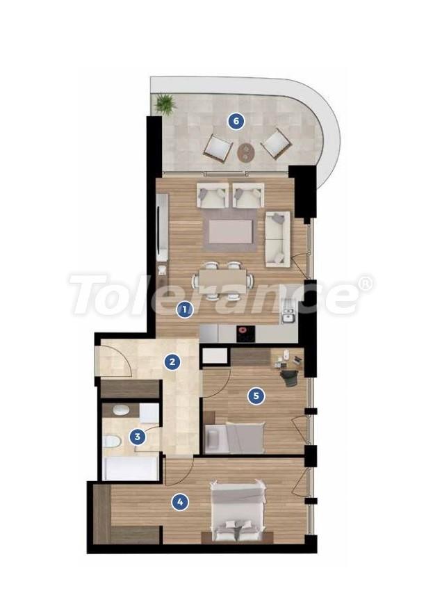 Элитные апартаменты в Измире в комплексе отельного типа с рассрочкой до 3-х лет - 19349 | Tolerance Homes