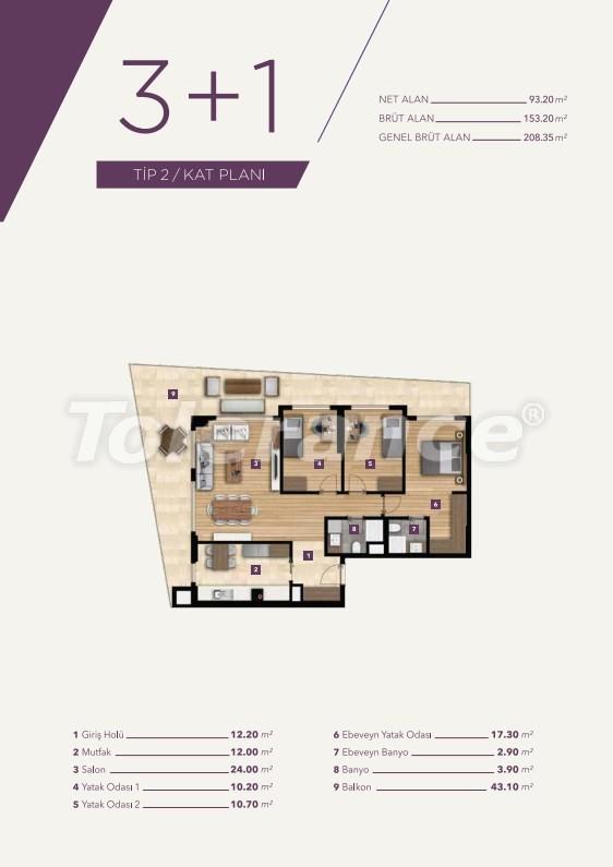 Элитные апартаменты в центре Измира от лучшей строительной компании - 15531   Tolerance Homes