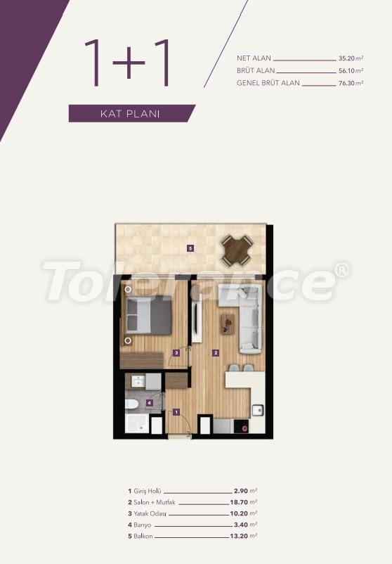 Элитные апартаменты в центре Измира от лучшей строительной компании - 15527   Tolerance Homes