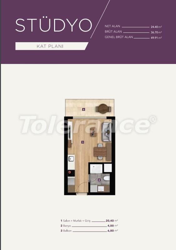 Элитные апартаменты в центре Измира от лучшей строительной компании - 15526   Tolerance Homes