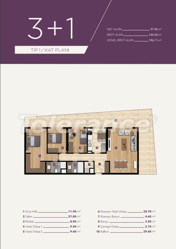 Элитные апартаменты в центре Измира от лучшей строительной компании - 15530   Tolerance Homes