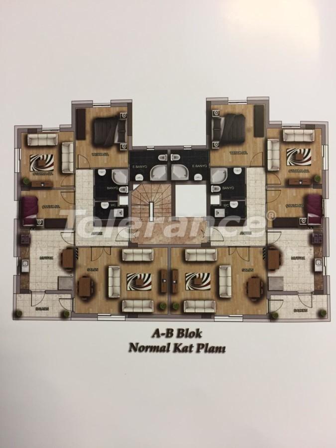 Недорогие квартиры в Кепез, Анталия высокого класса - 15630 | Tolerance Homes