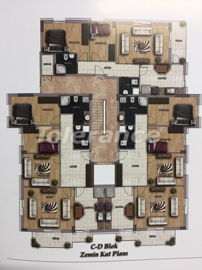 Недорогие квартиры в Кепез, Анталия высокого класса - 15631 | Tolerance Homes