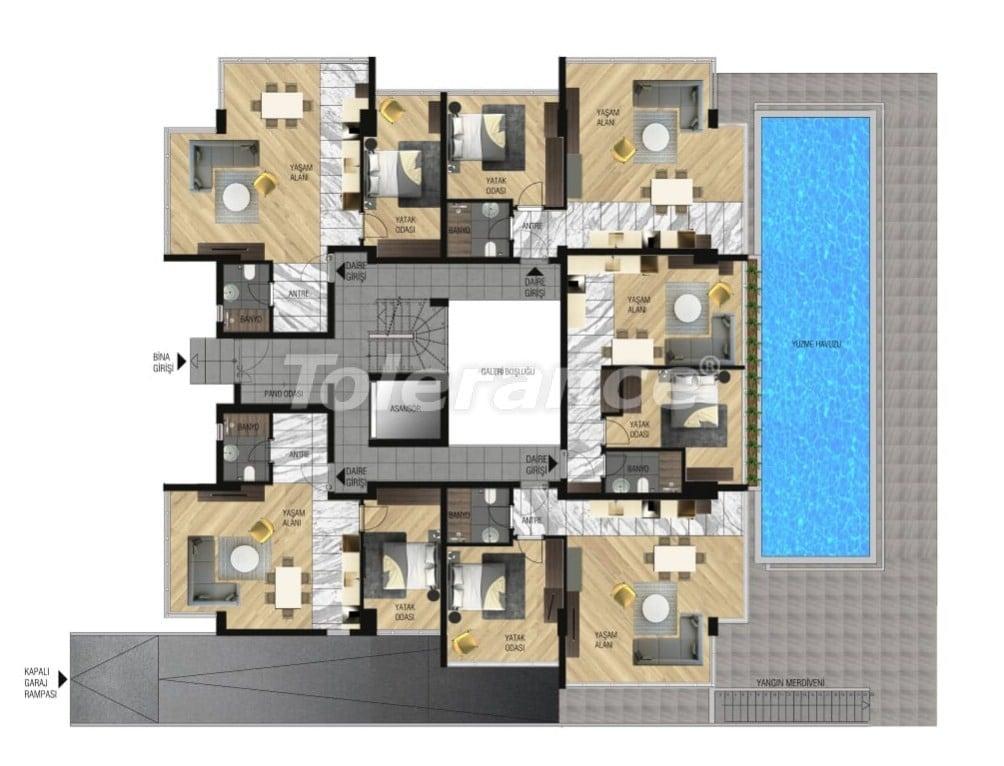 Элитные апартаменты в Ларе, Анталия для инвестиций с газовым отоплением - 15644   Tolerance Homes