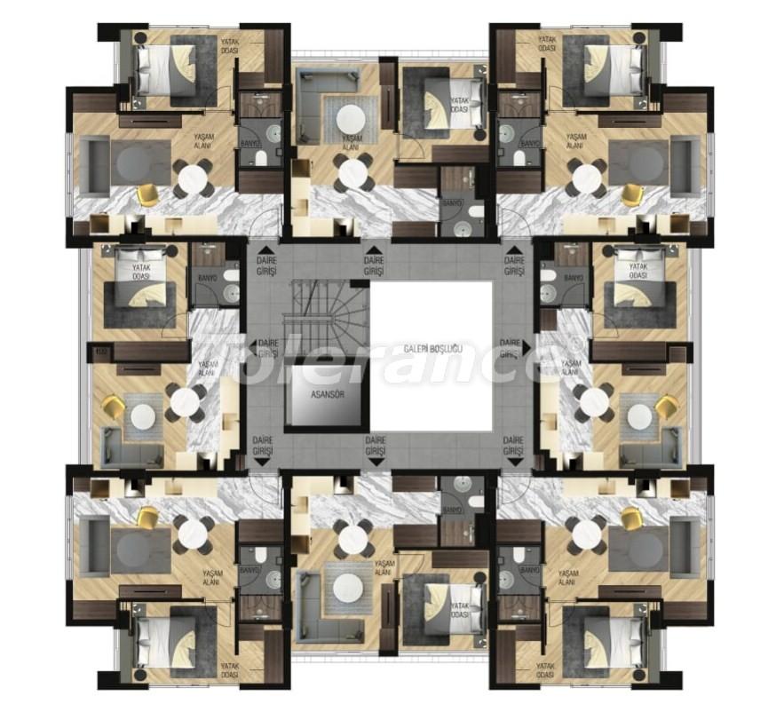 Элитные апартаменты в Ларе, Анталия для инвестиций с газовым отоплением - 15645   Tolerance Homes