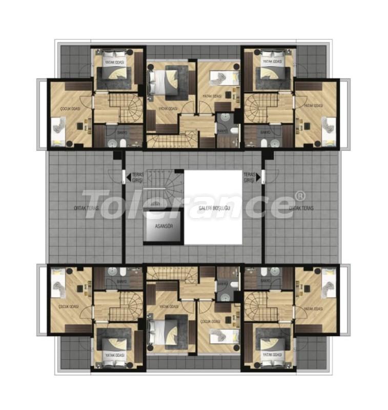 Элитные апартаменты в Ларе, Анталия для инвестиций с газовым отоплением - 15647   Tolerance Homes