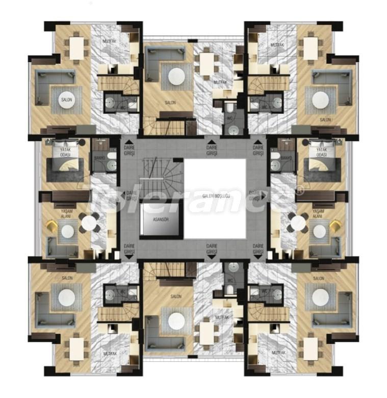 Элитные апартаменты в Ларе, Анталия для инвестиций с газовым отоплением - 15646   Tolerance Homes