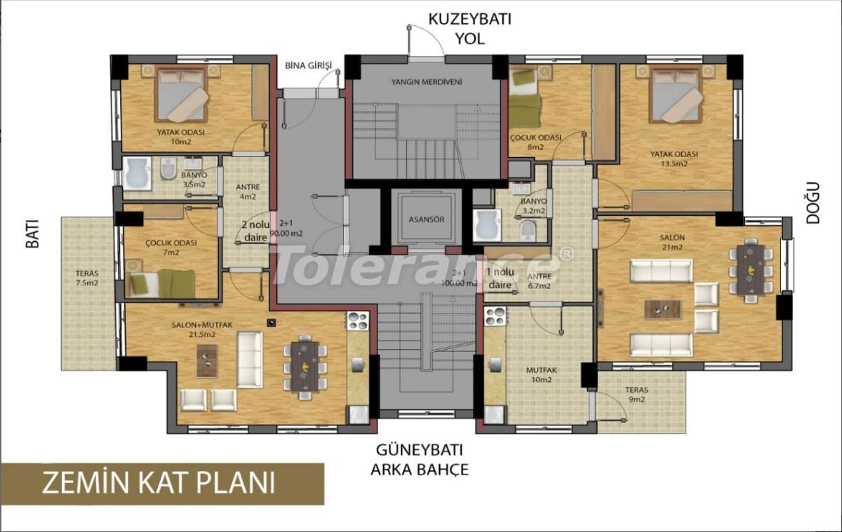 Апартаменты в центре Анталии от застройщика - 15686 | Tolerance Homes