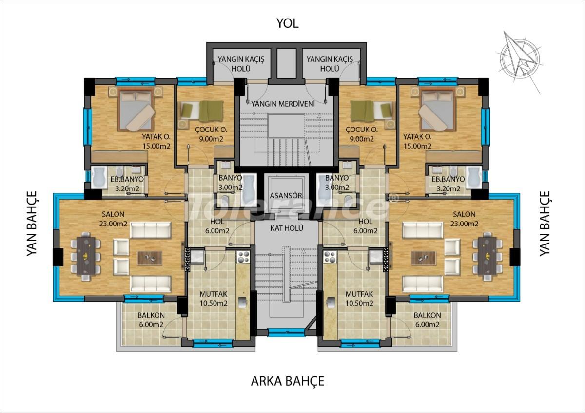 Апартаменты в центре Анталии от застройщика - 15687 | Tolerance Homes