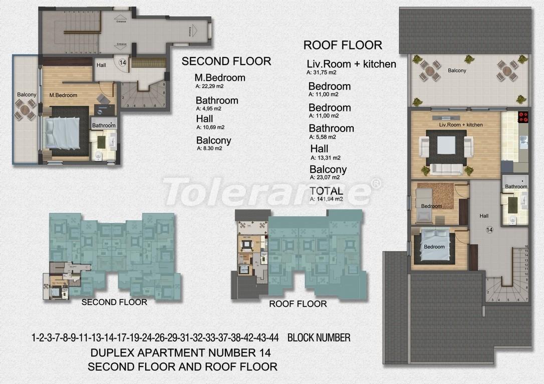 Квартиры с 2-мя и 3-мя спальнями в Дидиме, уникальный проект на берегу моря в сосновом лесу - 15754   Tolerance Homes