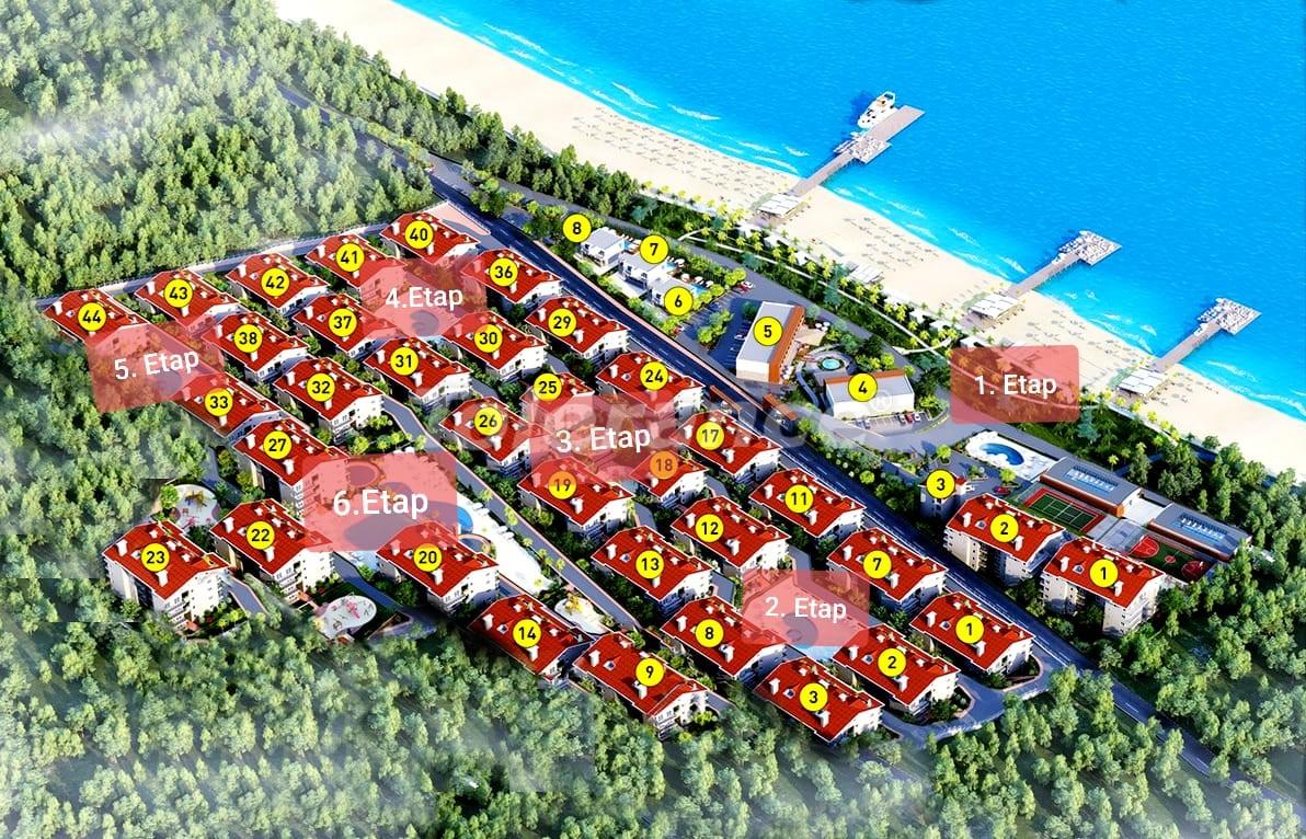 Квартиры с 2-мя и 3-мя спальнями в Дидиме, уникальный проект на берегу моря в сосновом лесу - 15746   Tolerance Homes