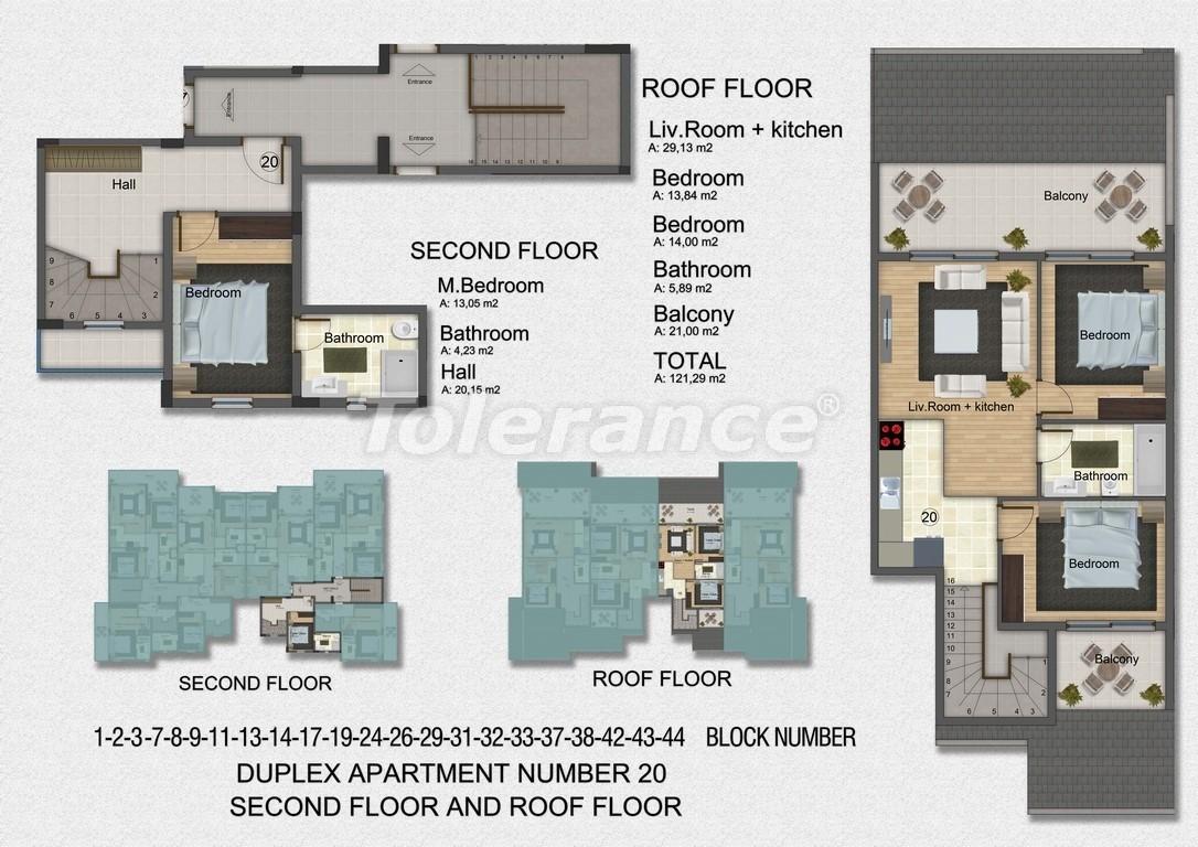 Квартиры с 2-мя и 3-мя спальнями в Дидиме, уникальный проект на берегу моря в сосновом лесу - 15758   Tolerance Homes