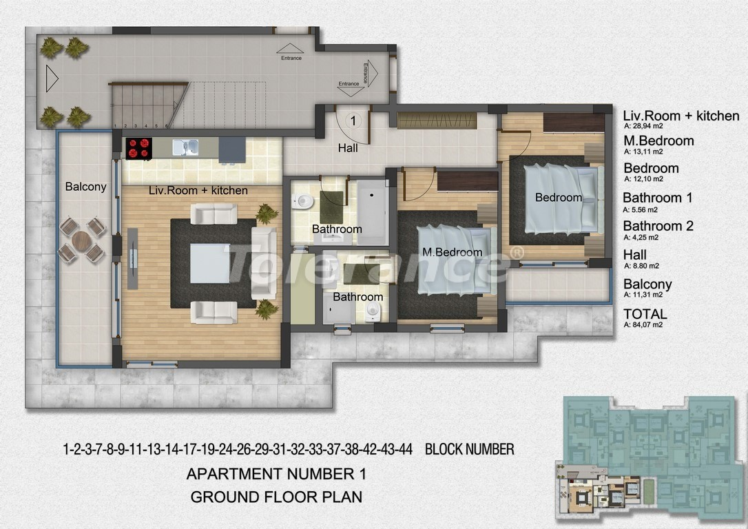 Квартиры с 2-мя и 3-мя спальнями в Дидиме, уникальный проект на берегу моря в сосновом лесу - 15756   Tolerance Homes
