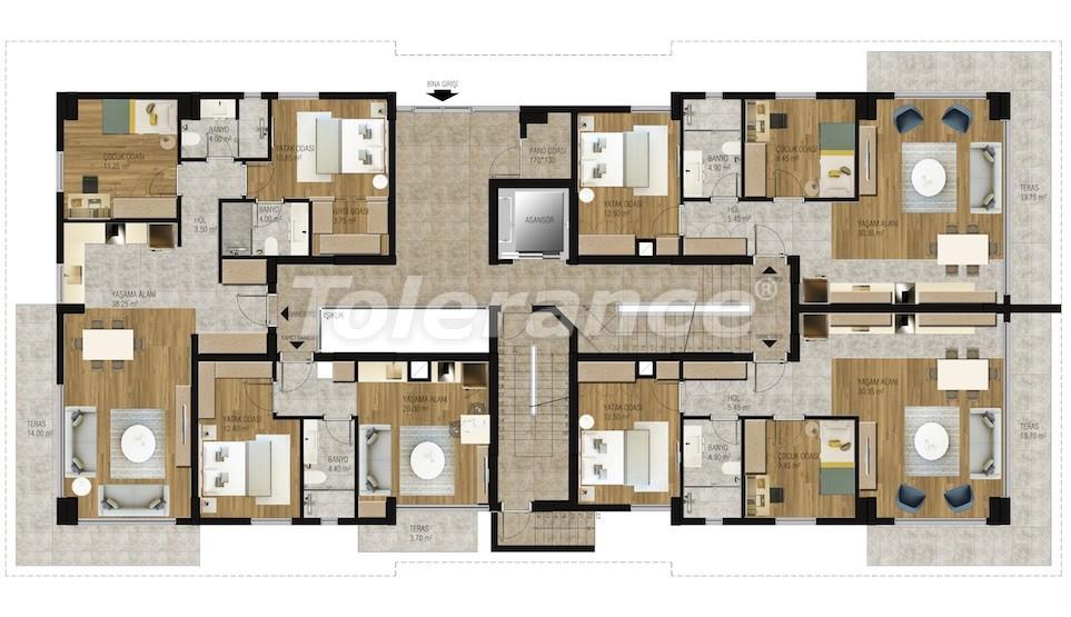 Современные апартаменты в Унджалы, Коньяалты с бассейном от надежного застройщика с рассрочкой - 16207 | Tolerance Homes