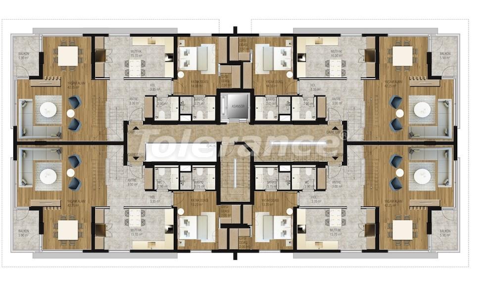 Современные апартаменты в Унджалы, Коньяалты с бассейном от надежного застройщика с рассрочкой - 16206 | Tolerance Homes