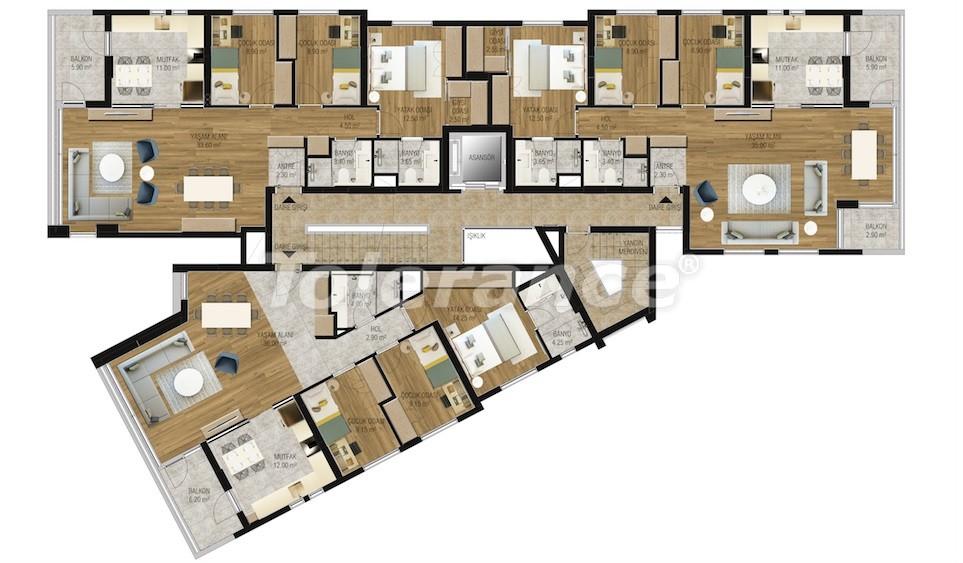 Современные апартаменты в Унджалы, Коньяалты с бассейном от надежного застройщика с рассрочкой - 16208 | Tolerance Homes