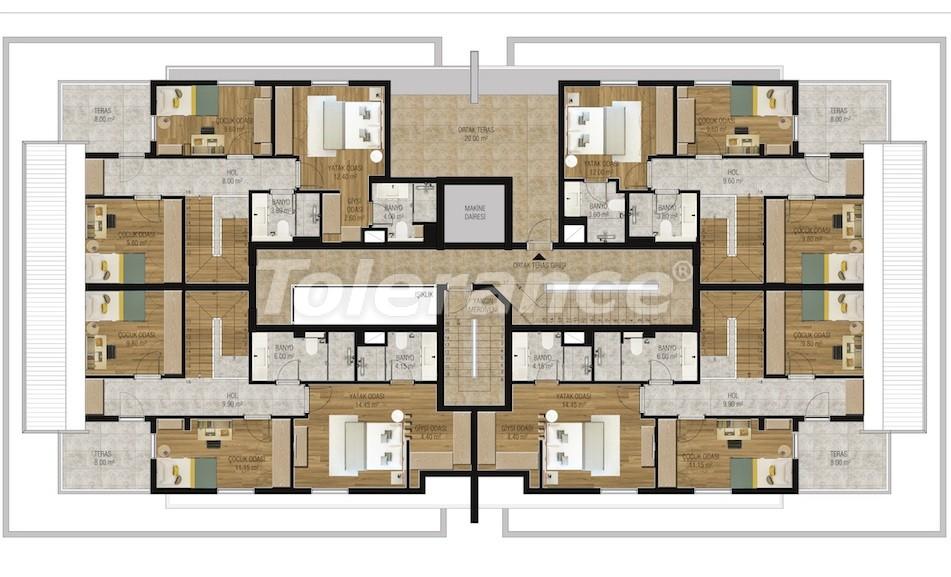 Современные апартаменты в Унджалы, Коньяалты с бассейном от надежного застройщика с рассрочкой - 16205 | Tolerance Homes
